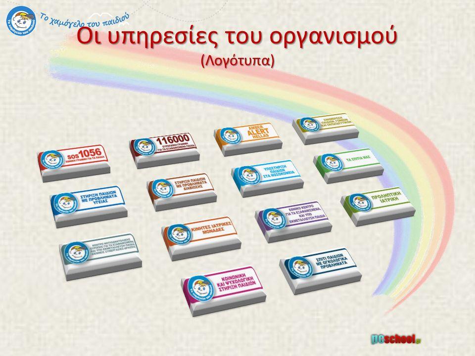 Οι υπηρεσίες του οργανισμού (Λογότυπα)