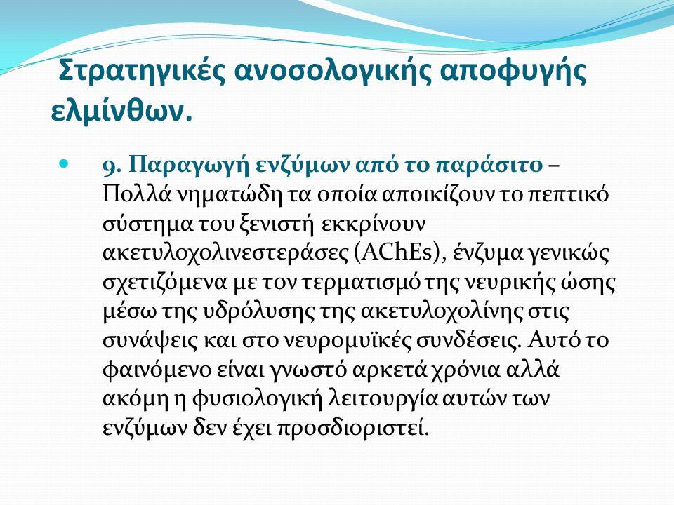 Στρατηγικές ανοσολογικής αποφυγής ελμίνθων. 9.