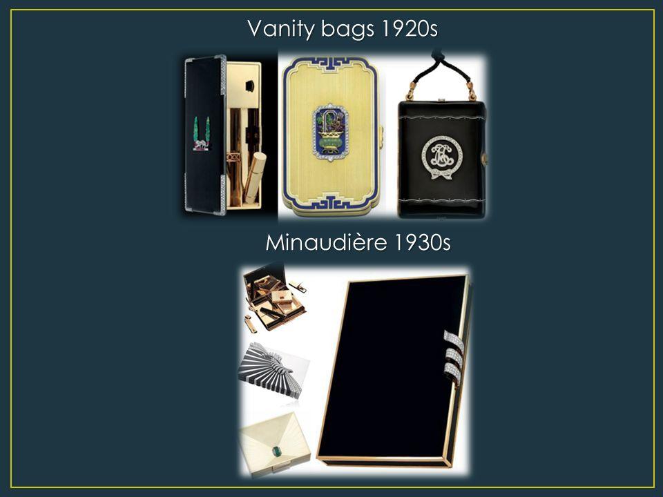 Vanity bags 1920s Minaudière 1930s