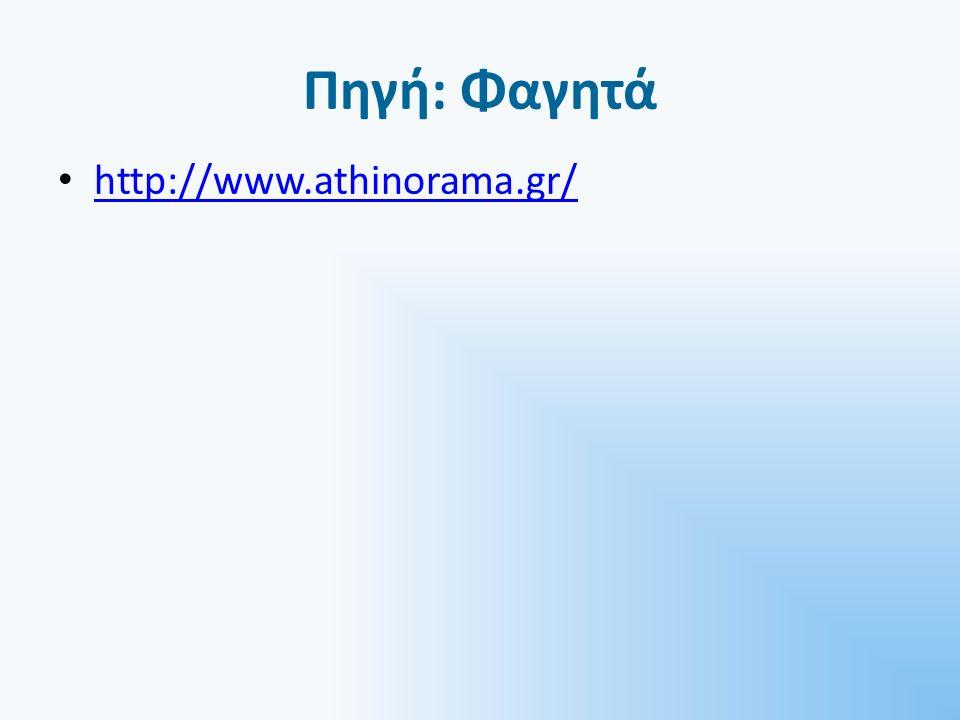 Πηγή: Φαγητά http://www.athinorama.gr/