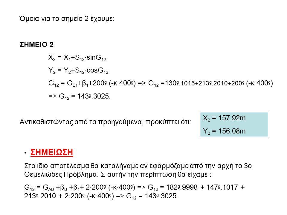 Άσκηση 5 : Δίνονται: G AΓ =363 g.151 και φ=114 g.258. Να βρεθεί η G AB. φ Β Α Γ
