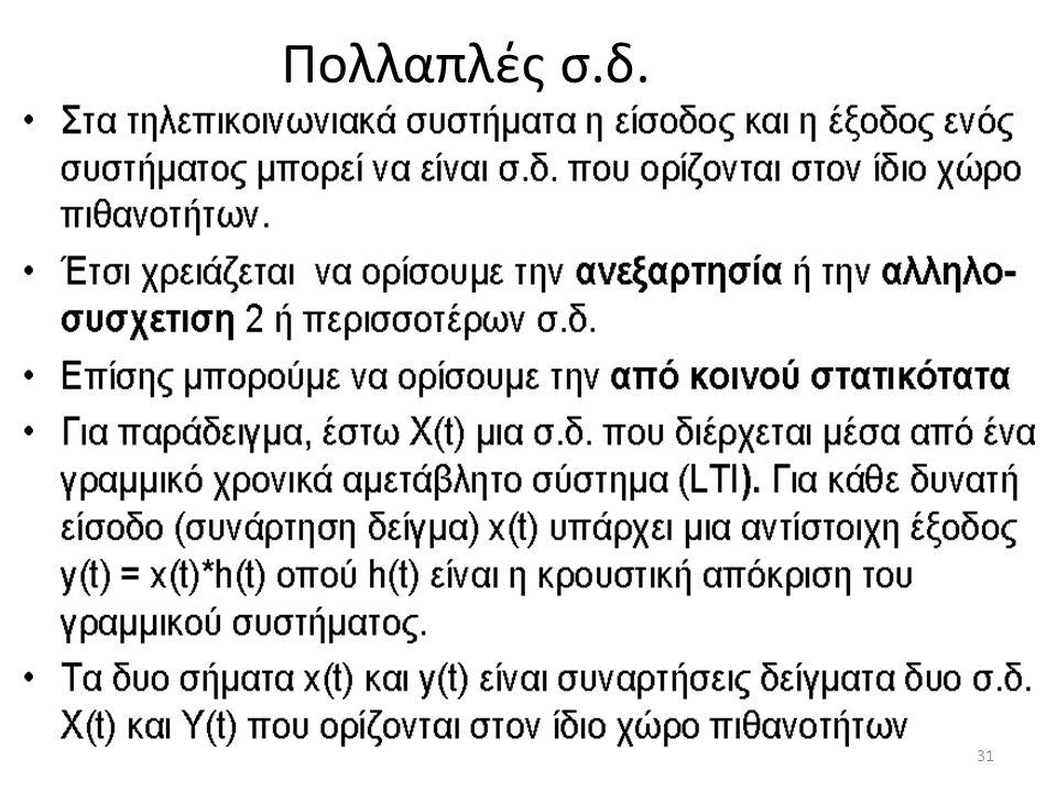 Πολλαπλές σ.δ. 31
