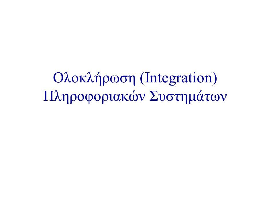 Ολοκλήρωση (Integration) Πληροφοριακών Συστημάτων