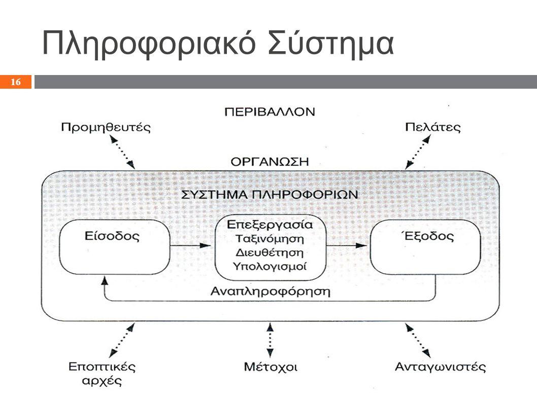 Πληροφοριακό Σύστημα 16