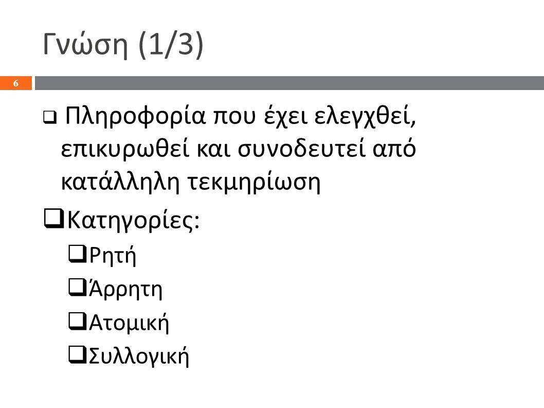 Παράδειγμα : Σύστημα Υ π οστήριξης Α π οφάσεων Λειτουργικού Ε π ι π έδου 27