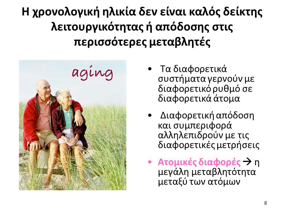 Πηγές ατομικών διαφορών: Μεταβλητότητα εντός των ατόμων κατά την γήρανση Η μεταβλητότητα εντός των ατόμων είναι η ποσότητα της διακύμανσης που υπάρχει μεταξύ αρκετών μετρήσεων (από μέτρηση σε μέτρηση) μιας συγκεκριμένης μεταβλητής στο ίδιο άτομο.