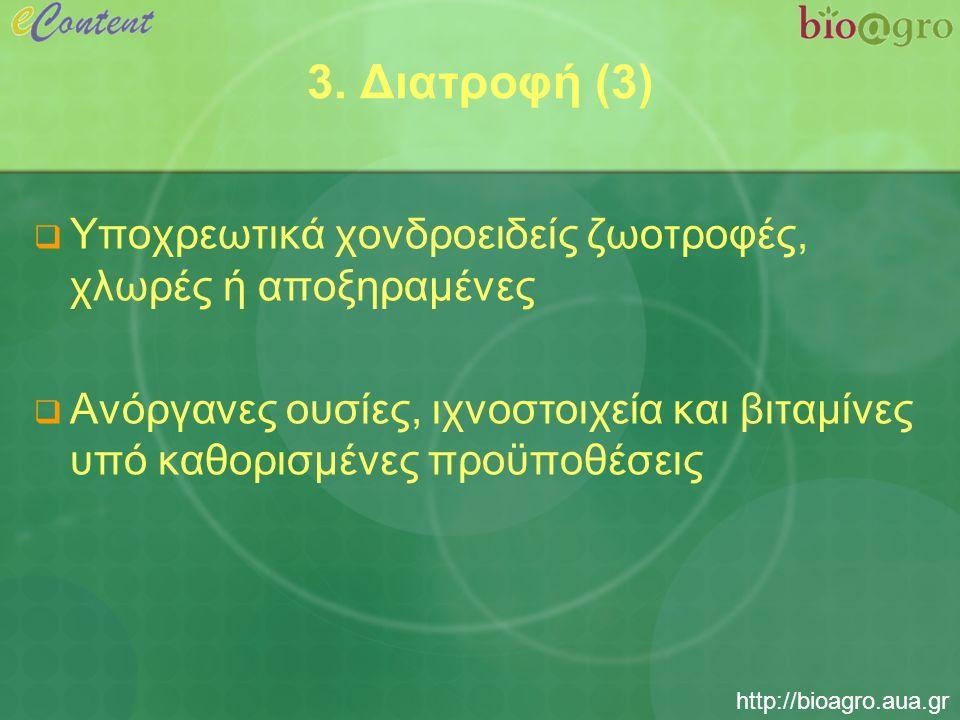 http://bioagro.aua.gr Συμπεράσματα (1)  Στόχος της βιολογικής παραγωγής γενικά είναι ο σεβασμός στην ισορροπία του περιβάλλοντος  Η βιολογική πτηνοτροφία στοχεύει στην παραγωγή προϊόντων ποιότητας  Απαιτείται η συμμόρφωση με τις απαιτήσεις του κανονισμού 2092/91 για όλες τις φάσεις της παραγωγής