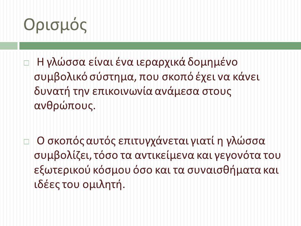 Piaget Whorf-Sapir Vygotsky Πράξεις Πολιτισμός 1 ες Ικανότητες Γλώσσα Σκέψη Ομιλία Σκέψη Γλώσσα Σκέψη Νοήματα : Κράματα Σκέψης & Γλώσσας