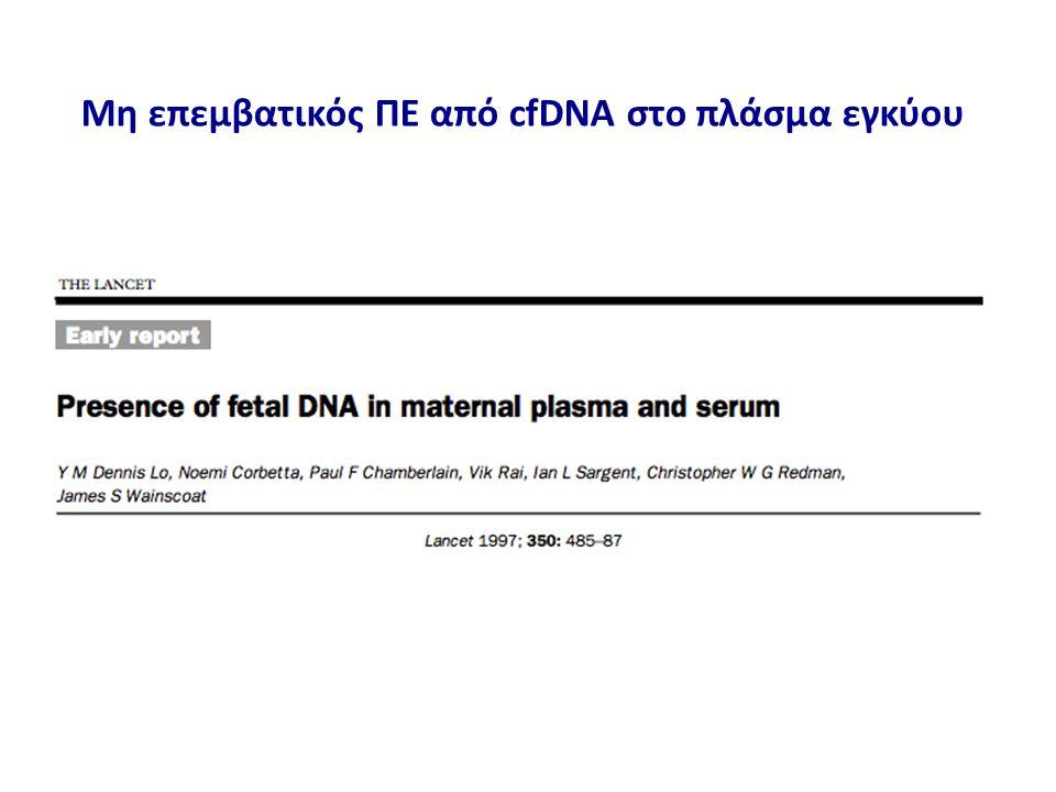 Μη επεμβατικός ΠΕ από cfDNA στο πλάσμα εγκύου