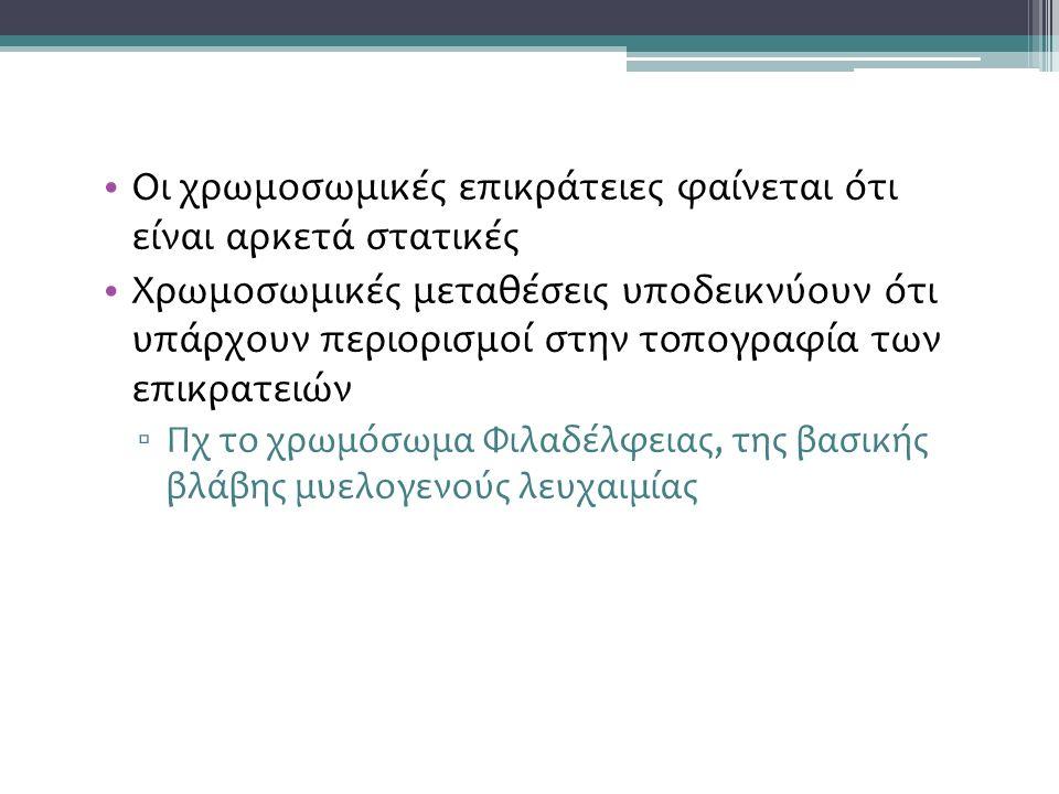 Οι τροποποιήσεις των ιστονών και ο ιστονικός κώδικας Αποσιώπηση (τοπική δράση) vs ετεροχρωματίνη (γενικευμένη δράση)