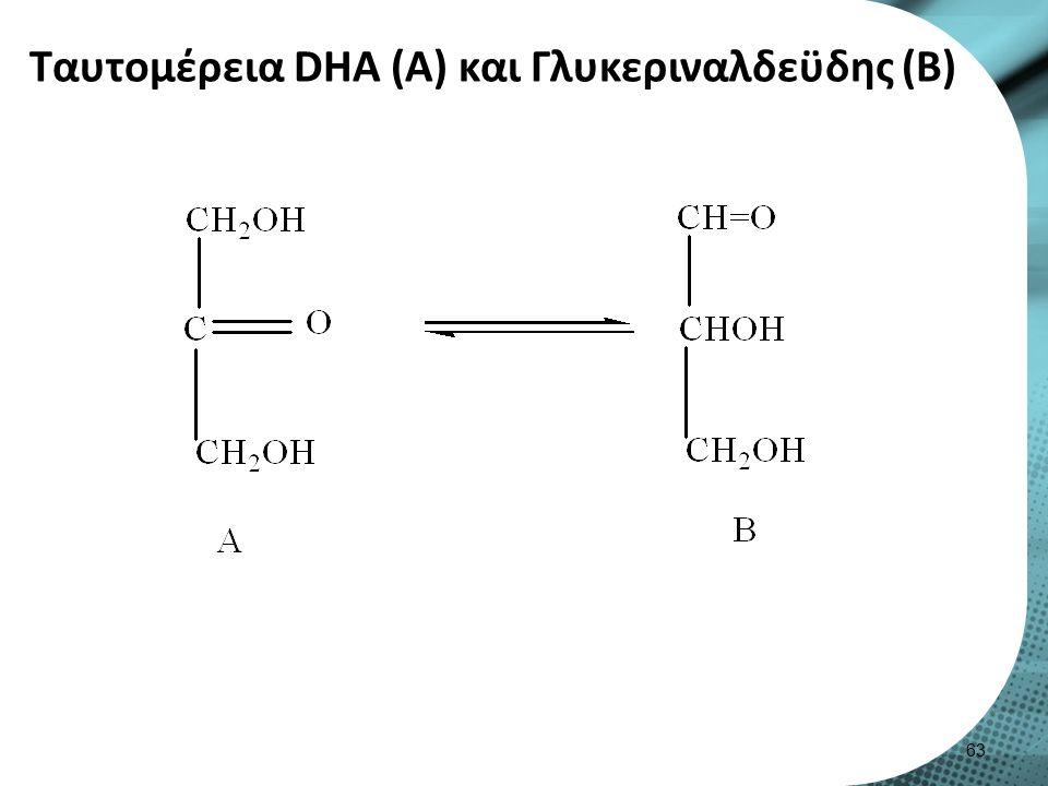 Ταυτομέρεια DΗΑ (Α) και Γλυκεριναλδεϋδης (B) 63