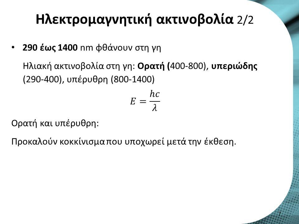 Ιδιότητες ιδανικής αντηλιακής ουσίας Nα απορροφούν/ανακλούν/σκεδάζουν την υπεριώδη Α ή Β χωρίς να διασπώνται.
