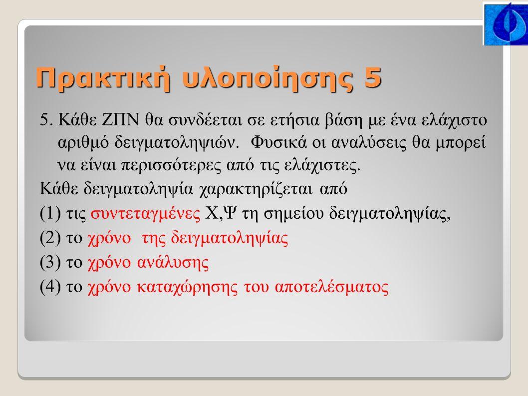 Πρακτική υλοποίησης 5 5.