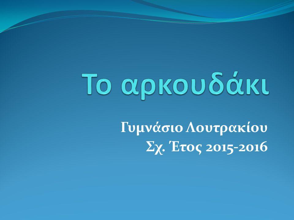 Γυμνάσιο Λουτρακίου Σχ. Έτος 2015-2016