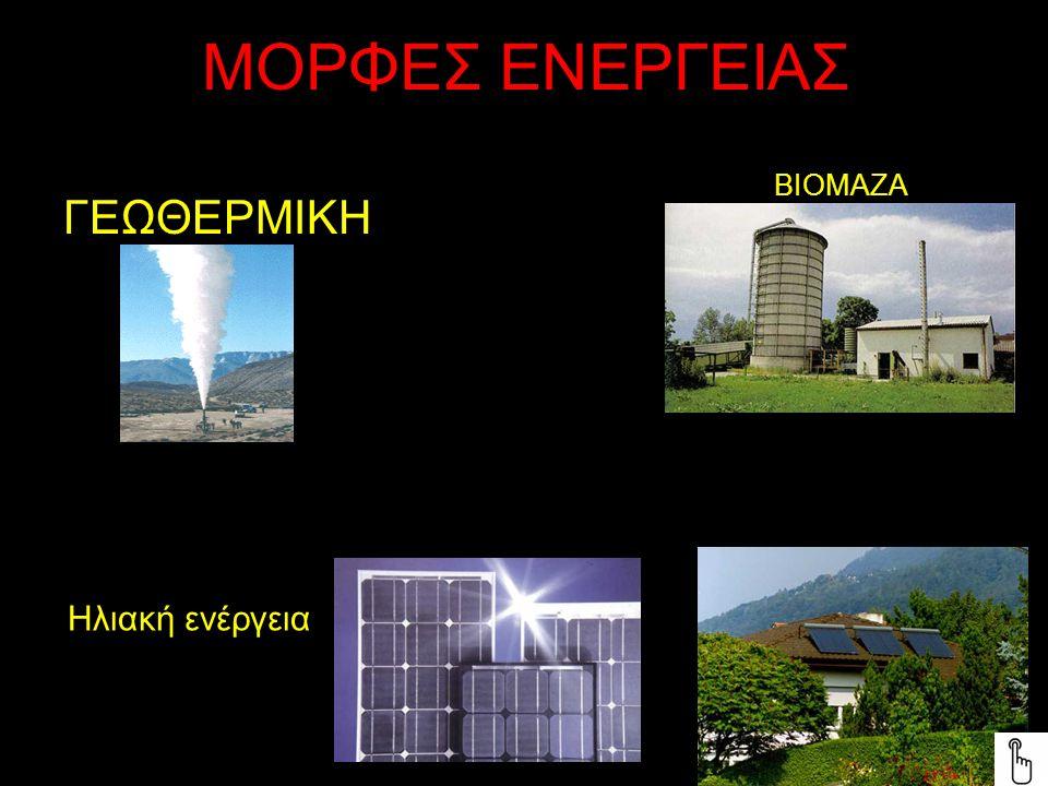 ΜΟΡΦΕΣ ΕΝΕΡΓΕΙΑΣ ΓΕΩΘΕΡΜΙΚΗ ΒΙΟΜΑΖΑ Ηλιακή ενέργεια