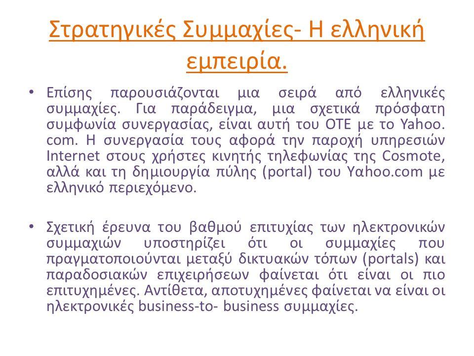 Στρατηγικές Συμμαχίες- Η ελληνική εμπειρία.