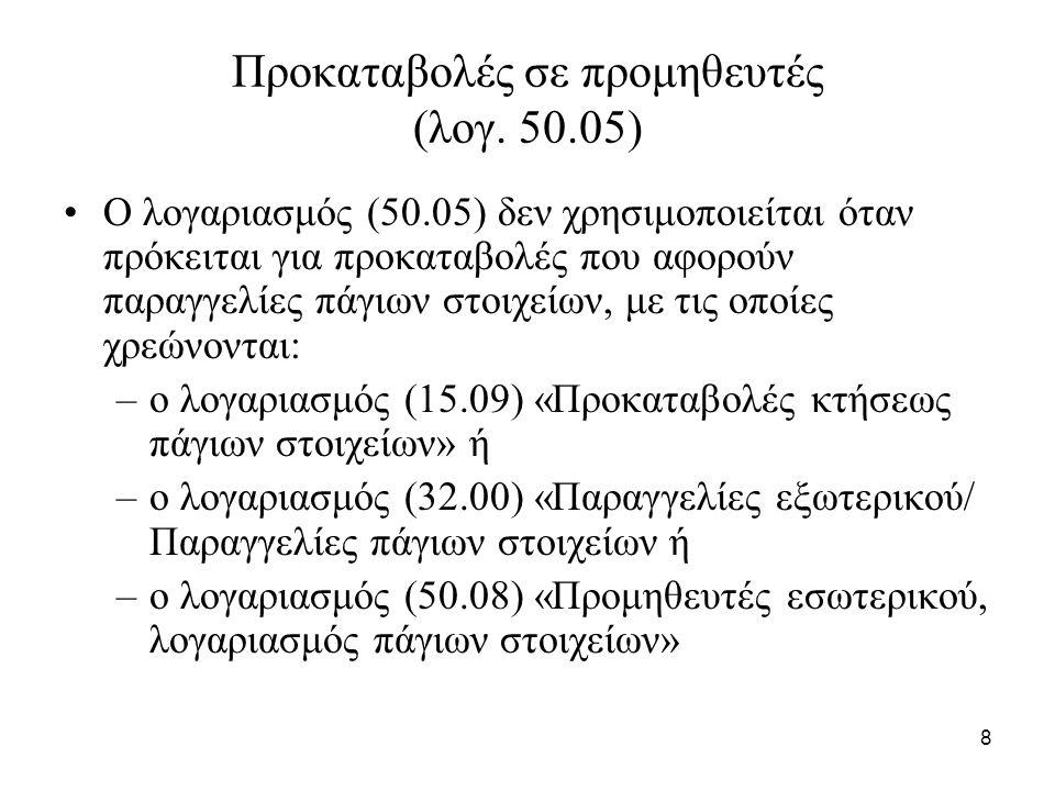 8 Προκαταβολές σε προμηθευτές (λογ.