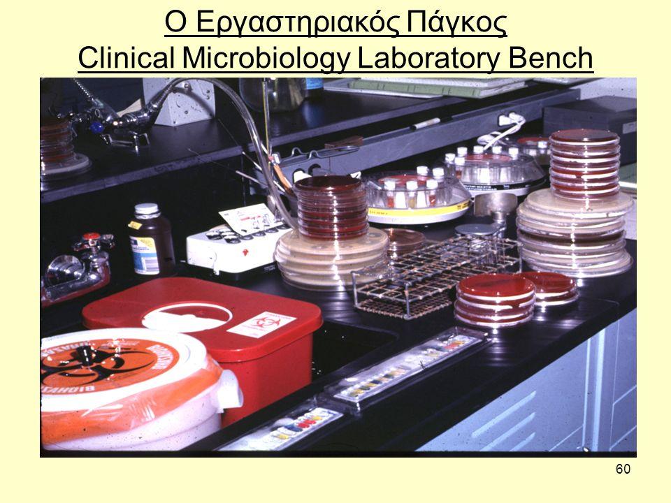 60 Ο Εργαστηριακός Πάγκος Clinical Microbiology Laboratory Bench