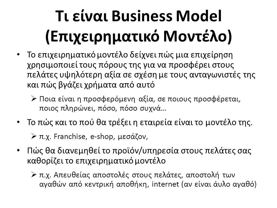 Τι είναι Business Plan (Επιχειρηματικό Σχέδιο) Το επιχειρηματικό σχέδιο μπαίνει στις λεπτομέρειες της επιχείρησης.