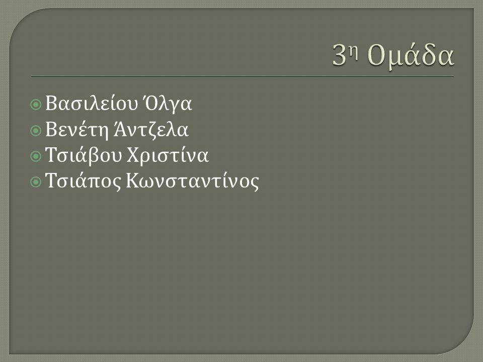  Βασιλείου Όλγα  Βενέτη Άντζελα  Τσιάβου Χριστίνα  Τσιάπος Κωνσταντίνος