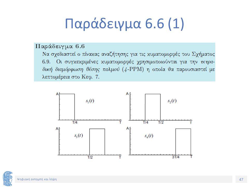 47 Ψηφιακή εκπομπή και λήψη Παράδειγμα 6.6 (1)