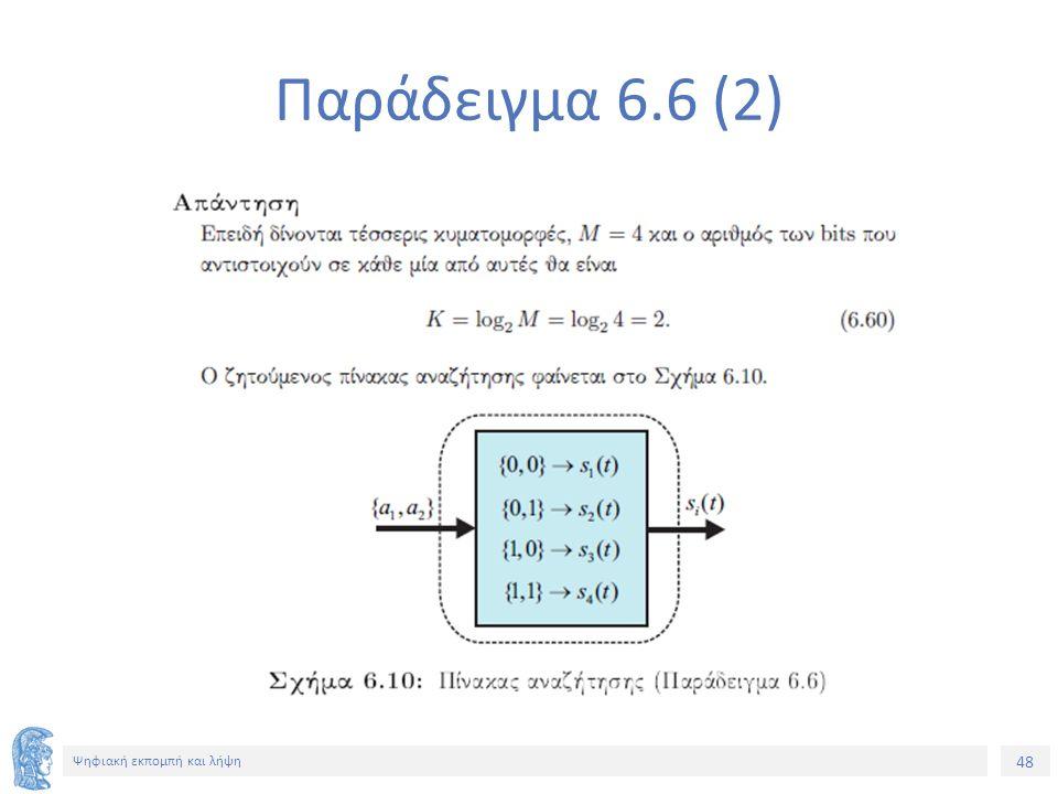 48 Ψηφιακή εκπομπή και λήψη Παράδειγμα 6.6 (2)
