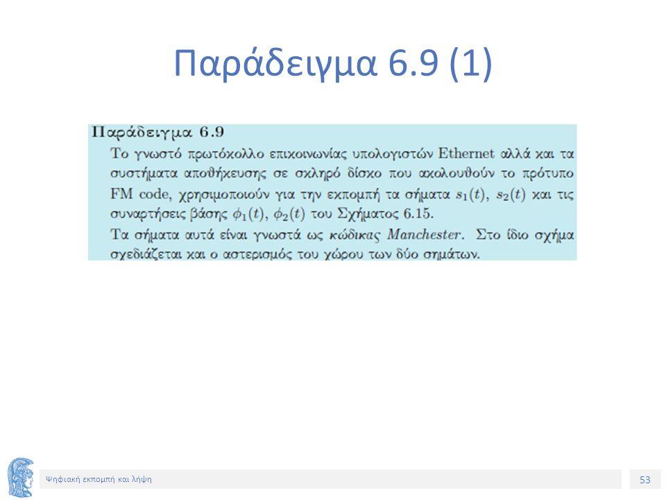 53 Ψηφιακή εκπομπή και λήψη Παράδειγμα 6.9 (1)