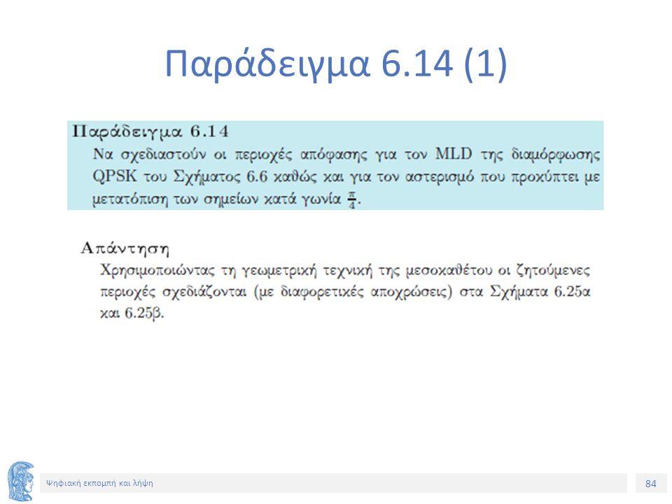 84 Ψηφιακή εκπομπή και λήψη Παράδειγμα 6.14 (1)