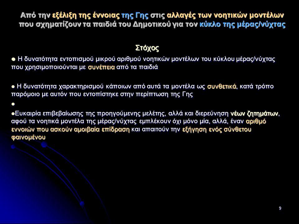 10 Εξηγήσεις της Εναλλαγής της Μέρας/Νύχτας στην Ιστορία της Αστρονομίας Παλαιότερες θεωρίες: Η κίνηση του Ήλιου – βασική αιτία του κύκλου μέρας/νύχτας Αρχαία κινέζικη κοσμολογία: Τετράγωνη – επίπεδη Γη, ο Ήλιος κινείται προς άλλα μακρινά μέρη της Γης (Needham, 1975) Αρχαία κινέζικη κοσμολογία: Τετράγωνη – επίπεδη Γη, ο Ήλιος κινείται προς άλλα μακρινά μέρη της Γης (Needham, 1975) Αναξιμένης: Γη επίπεδη σαν τραπέζι.