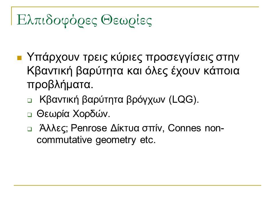 Κβαντική βαρύτητα βρόγχων (LQG).