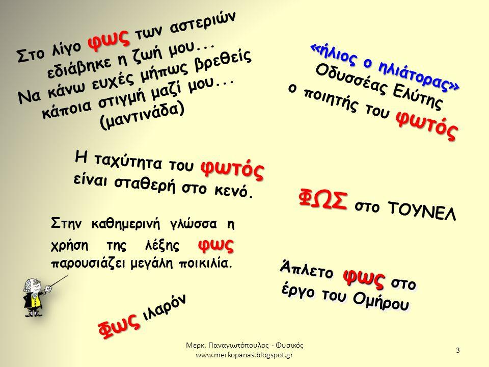 Μερκ.Παναγιωτόπουλος - Φυσικός www.merkopanas.blogspot.gr 34 1.