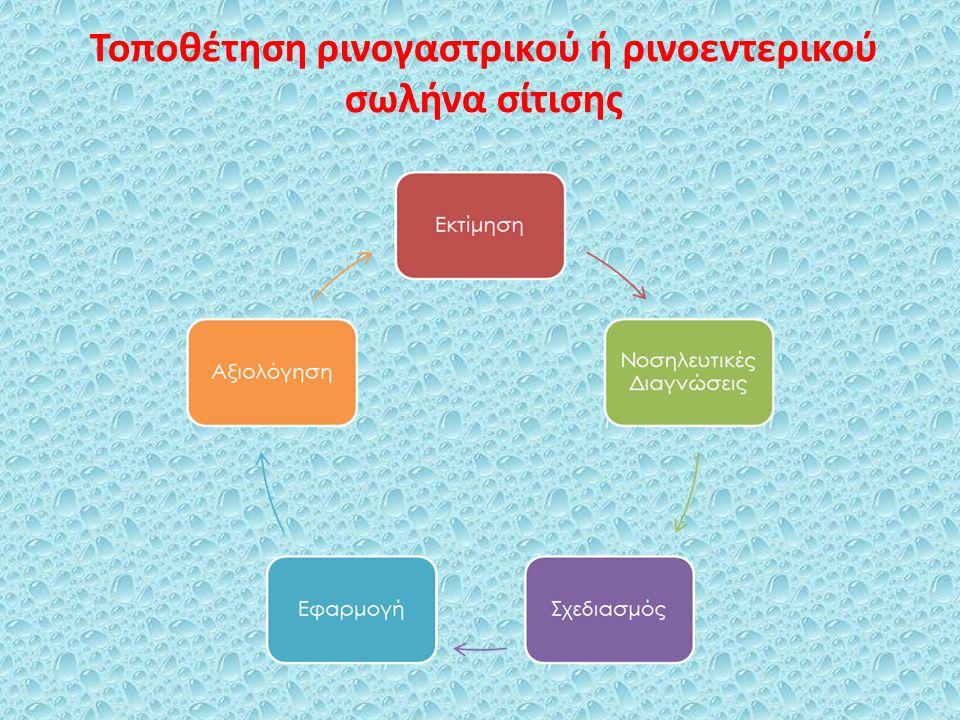 Χορήγηση εντερικής διατροφής: ρινοεντερικός σωλήνας, σωλήνας γαστροστομίας, σωλήνας νηστιδοστομίας Συχνές διακοπές της σίτισης = ανεπαρκής παροχή θρεπτικών συστατικών, που δυνητικά οδηγεί σε υποθρεψία ή ηλεκτρολυτικές διαταραχές Η χορήγηση εντερικής διατροφής συχνά καθυστερεί μέχρι να μπορούν να ακροαστούν εντερικοί ήχοι στους ασθενείς Έρευνες υποδηλώνουν ότι είναι ασφαλές να ξεκινήσει η εντερική διατροφή πριν να επιστρέψουν οι εντερικοί ήχοι, ειδικότερα εάν οι ασθενείς έχουν σωλήνες νηστιδοστομίας Αναλογιστείτε τα οφέλη έναντι των κινδύνων, εκτιμώντας την ανοχή του ασθενούς στην πρόωρη εντερική διατροφή
