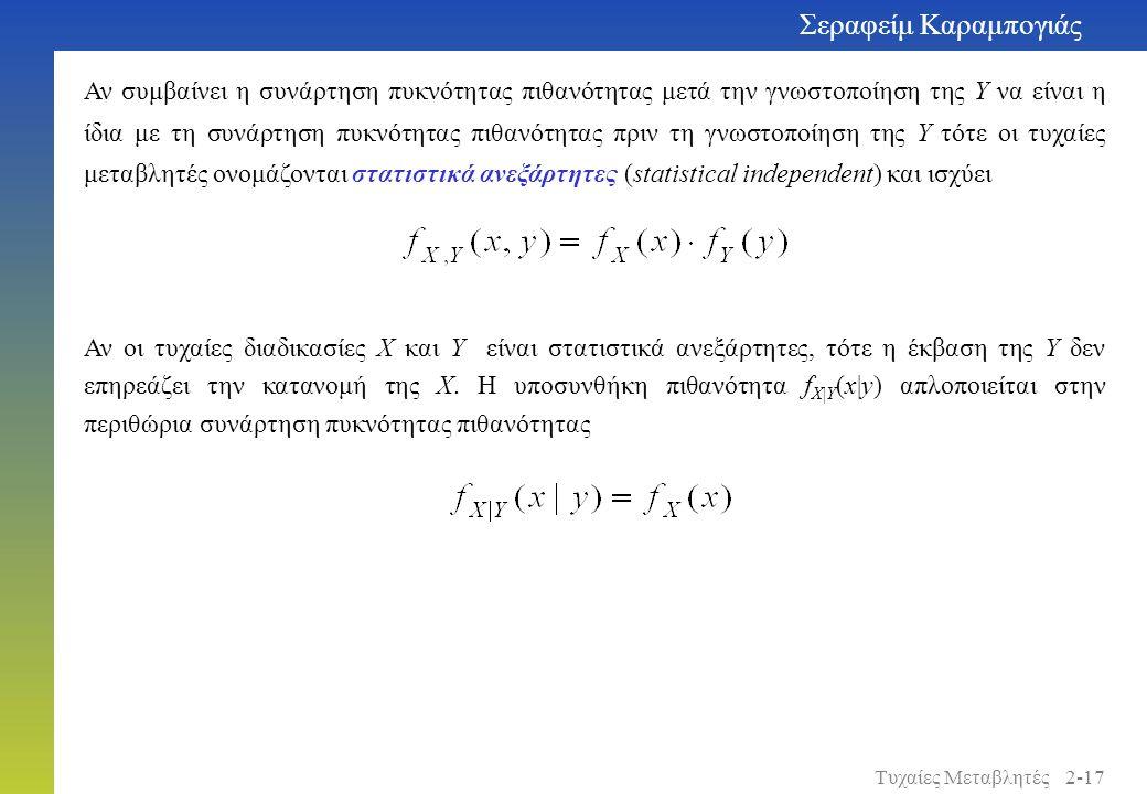 Αν συμβαίνει η συνάρτηση πυκνότητας πιθανότητας μετά την γνωστοποίηση της Y να είναι η ίδια με τη συνάρτηση πυκνότητας πιθανότητας πριν τη γνωστοποίησ
