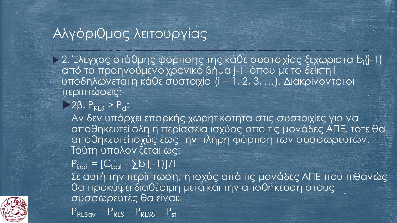 Αλγόριθμος λειτουργίας  2.