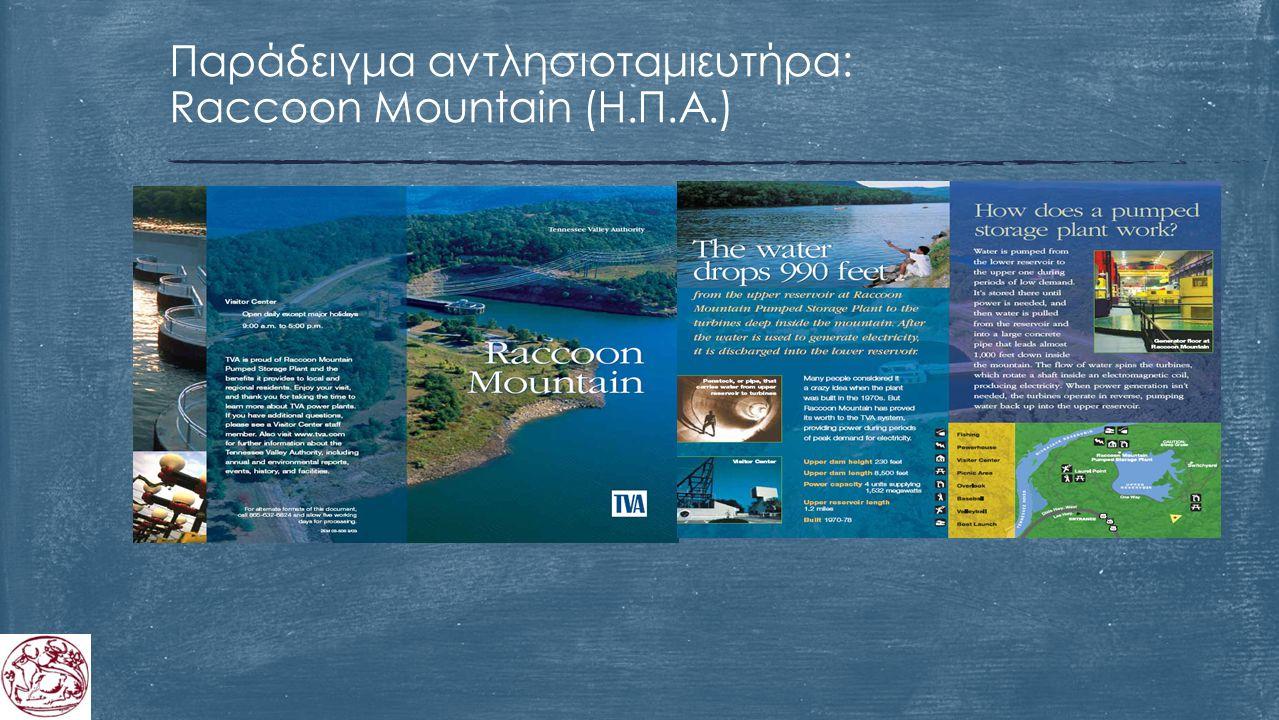 Παράδειγμα αντλησιοταμιευτήρα: Raccoon Mountain (Η.Π.Α.)