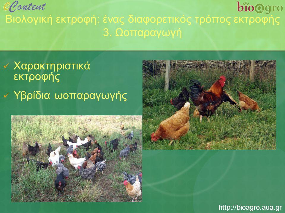 http://bioagro.aua.gr Βιολογική εκτροφή: ένας διαφορετικός τρόπος εκτροφής 3.
