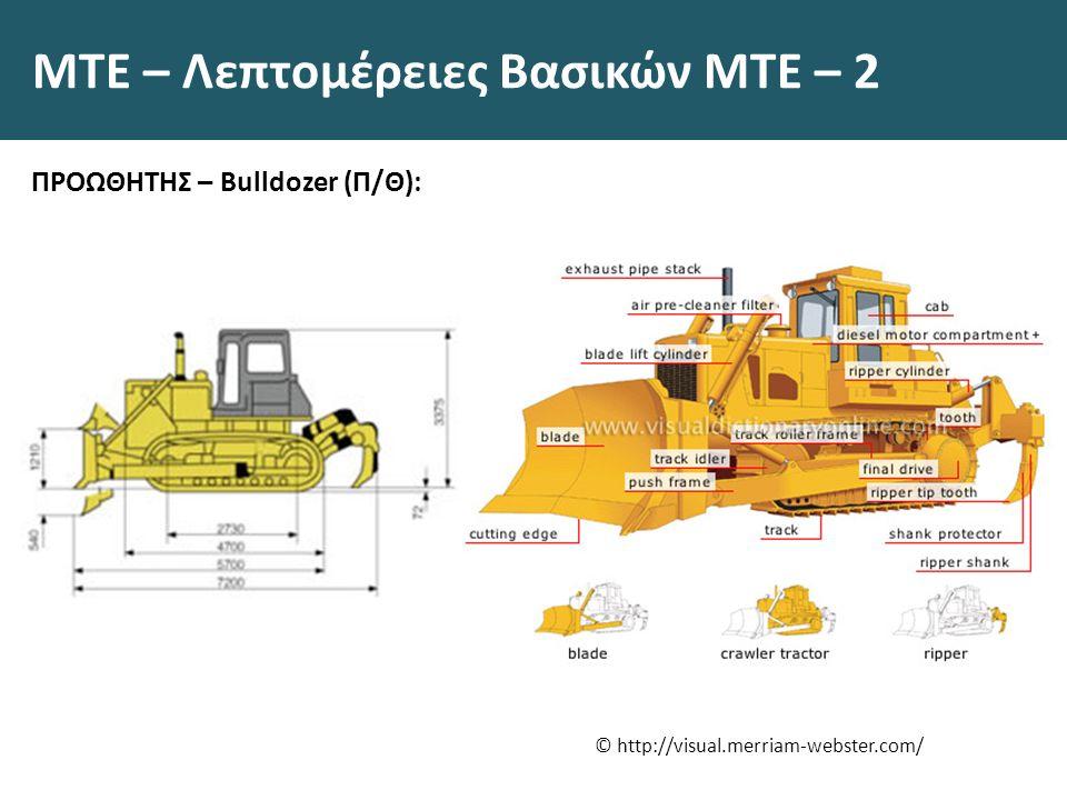 ΜΤΕ – Λεπτομέρειες Βασικών ΜΤΕ – 2 ΠΡΟΩΘΗΤΗΣ – Bulldozer (Π/Θ): © http://visual.merriam-webster.com/