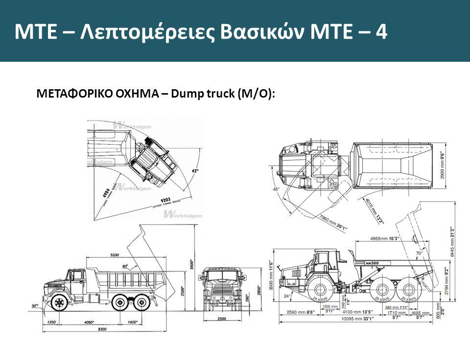 ΜΤΕ – Λεπτομέρειες Βασικών ΜΤΕ – 4 ΜΕΤΑΦΟΡΙΚΟ ΟΧΗΜΑ – Dump truck (Μ/Ο):