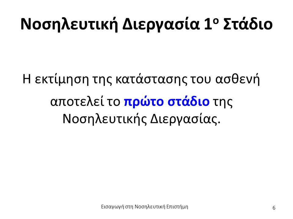 (α) Κατά τη Νοσηλευτική Εκτίμηση πραγματοποιείται: Πραγματοποίηση αξιόπιστων παρατηρήσεων.