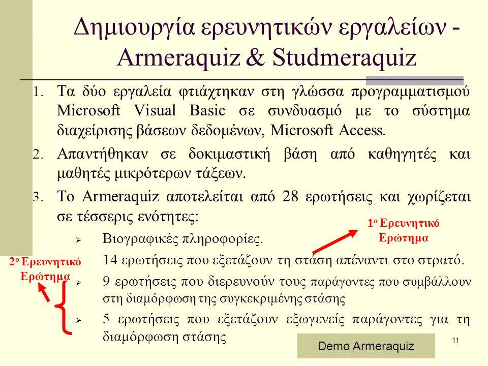 11 1. Τα δύο εργαλεία φτιάχτηκαν στη γλώσσα προγραμματισμού Microsoft Visual Basic σε συνδυασμό με το σύστημα διαχείρισης βάσεων δεδομένων, Microsoft