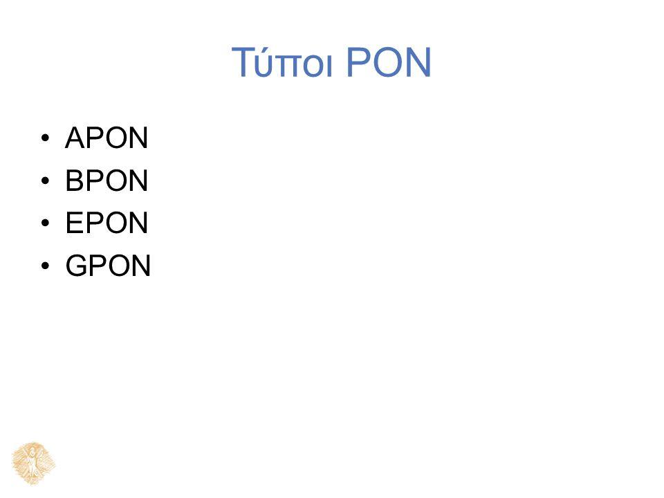 Τύποι PON APON BPON EPON GPON