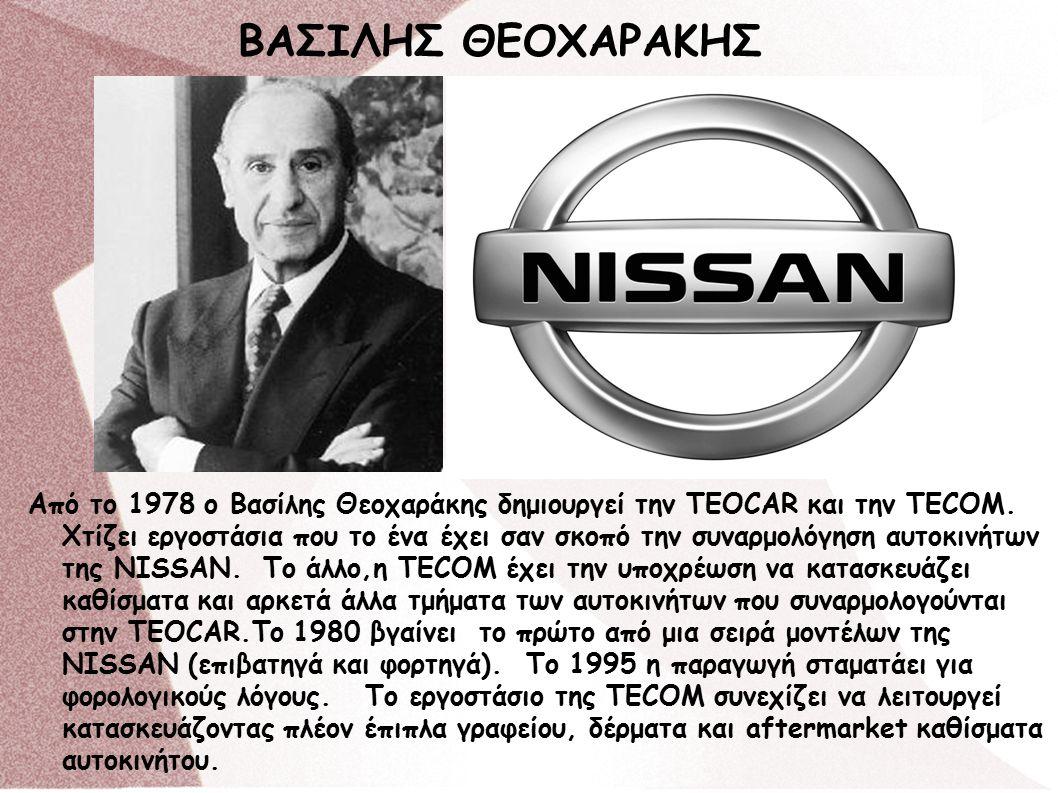 Aπό το 1978 ο Βασίλης Θεοχαράκης δημιουργεί την TEOCAR και την TECOM.