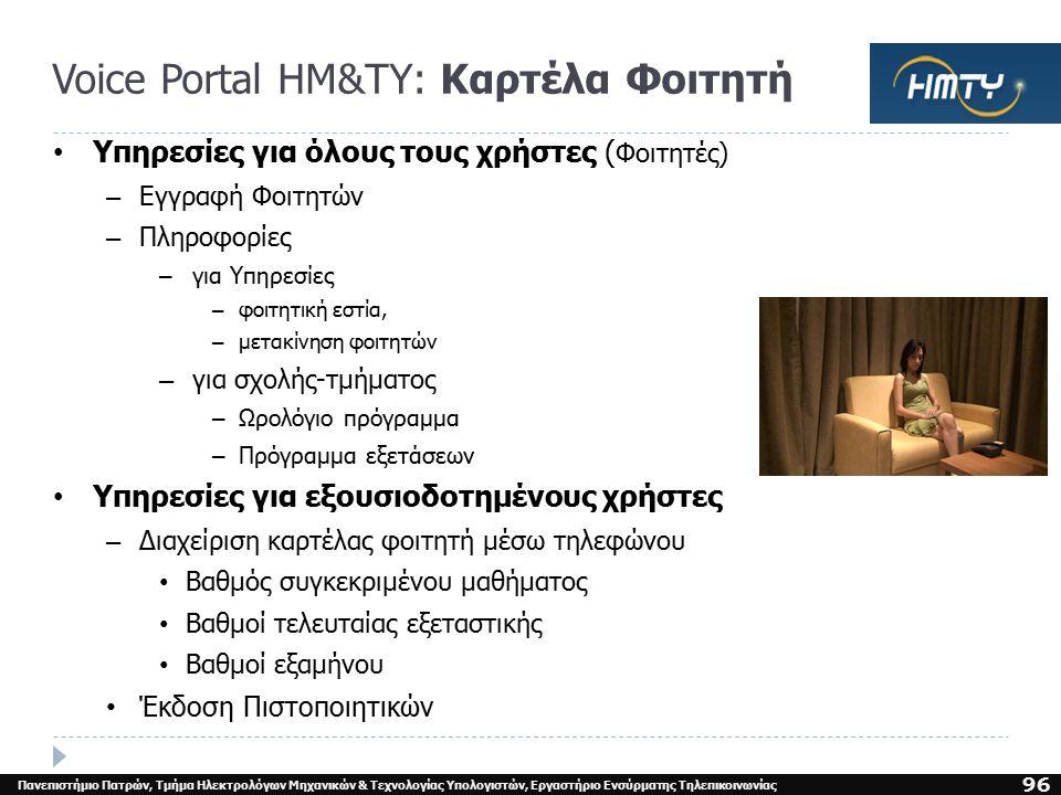 Τεχνολογία ΟμιλίαςΝίκος Φακωτάκης95  Voice Portal ΗΜ&ΤΥ  Call Router ΗΜ&ΤΥ