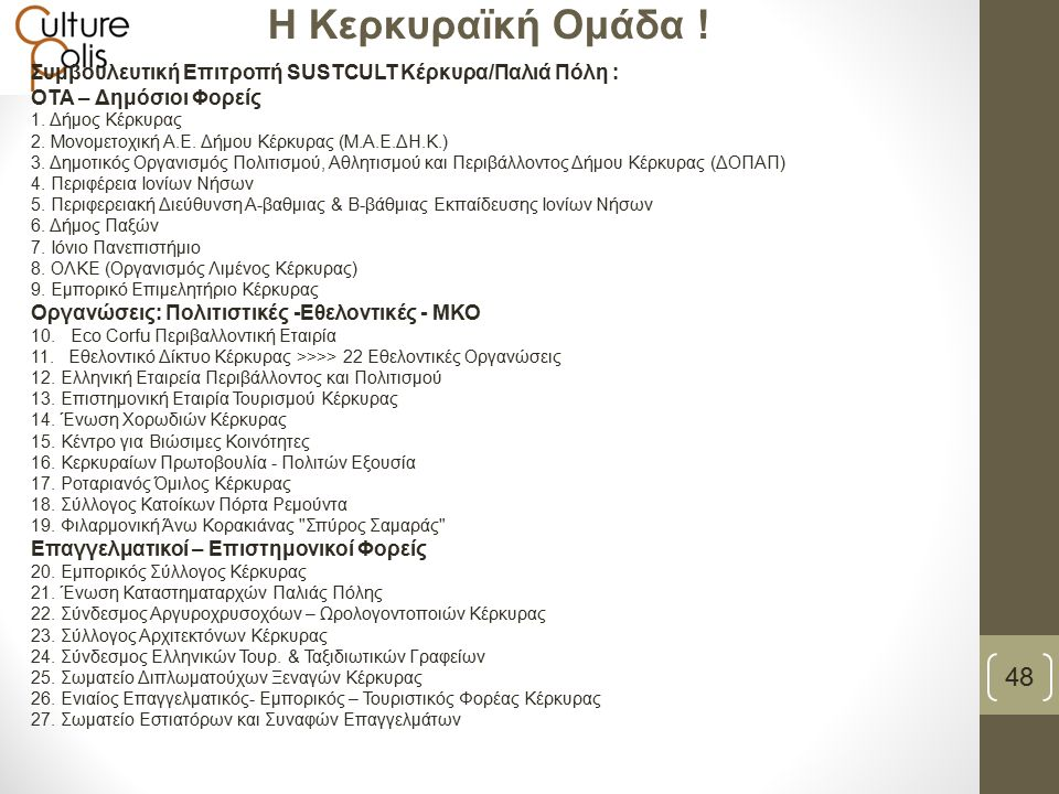 48 Η Κερκυραϊκή Ομάδα .