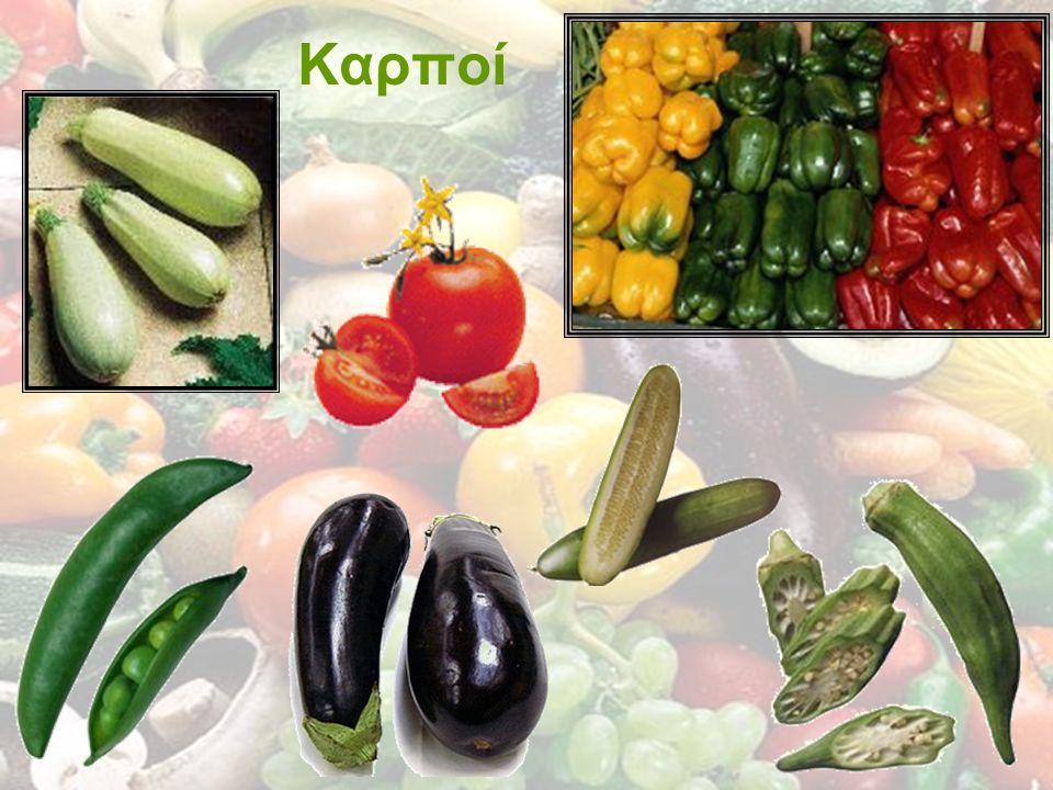 Χαρακτηριστικά φρέσκων λαχανικών Να έχουν το ζωηρό, φυσικό τους χρώμα Να είναι τρυφερά,με σφικτή σάρκα (όχι μαραμένα ή λιωμένα) Να έχουν πλούσιο, φυσικό άρωμα