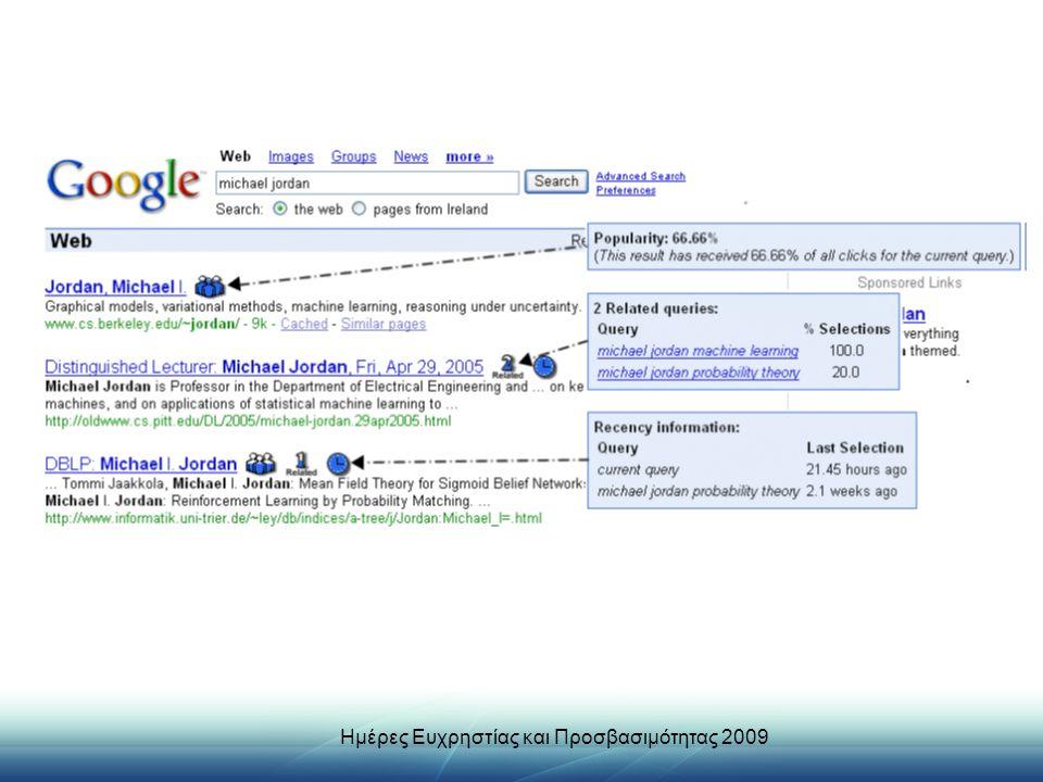 Ημέρες Ευχρηστίας και Προσβασιμότητας 2009