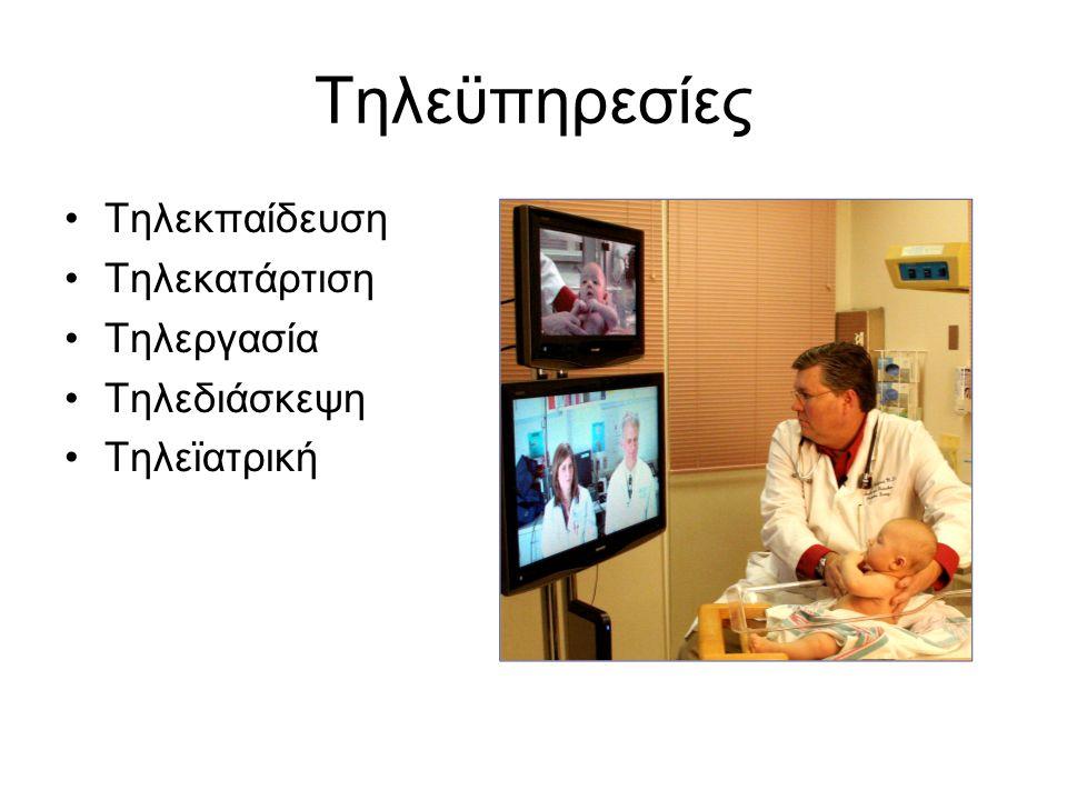 Τηλεϋπηρεσίες Τηλεκπαίδευση Τηλεκατάρτιση Τηλεργασία Τηλεδιάσκεψη Τηλεϊατρική