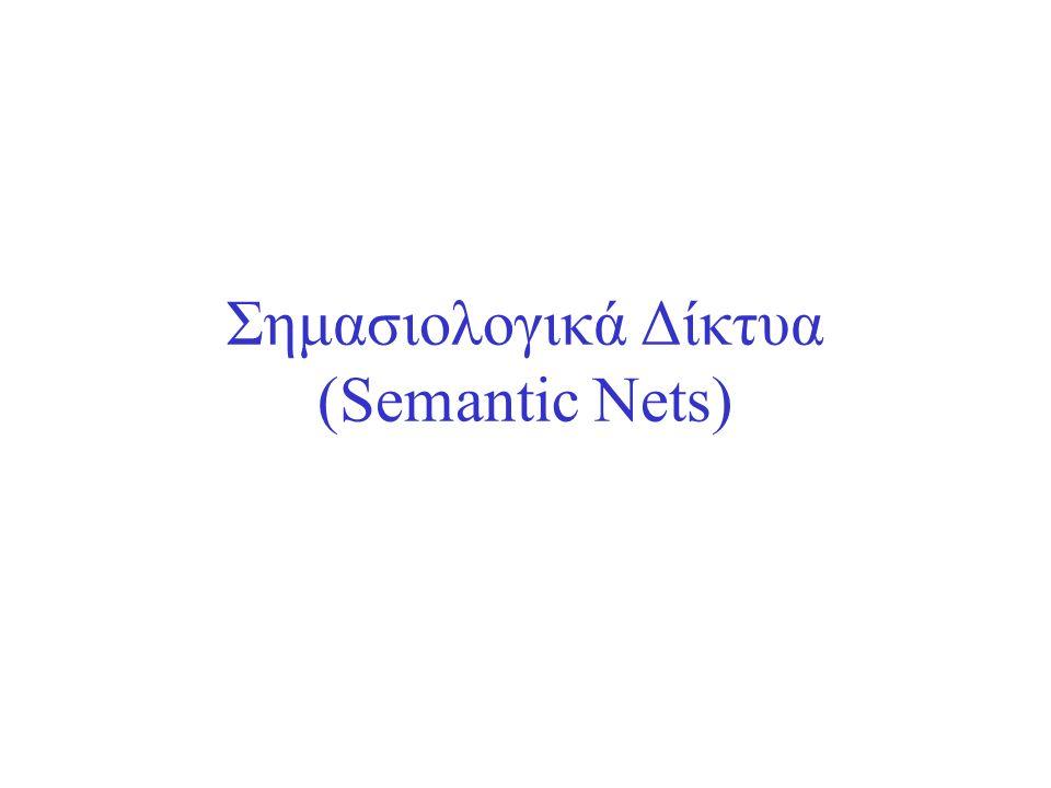 Σημασιολογικά Δίκτυα (Semantic Nets)
