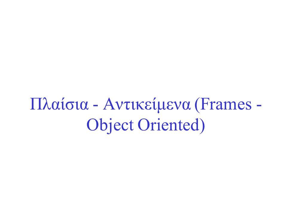 Πλαίσια - Αντικείμενα (Frames - Object Oriented)