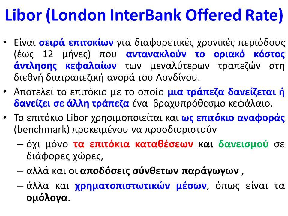 Κυμαινόμενο επιτόκιο Το κυμαινόμενο επιτόκιο μεταβάλλεται κατά τη διάρκεια ζωής του δανείου, – συνδέεται είτε με τα διατραπεζικά επιτόκια Euribor ή Libor, – είτε με το επιτόκιο που καθορίζει η Ευρωπαϊκή Κεντρική Τράπεζα (EKT).
